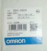 Omron S8VS 24024 24VDC 10A DIN Rail Automation Power Supply
