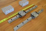 New 2 Rexroth SIZE25 Linear LM Rails Bearing Runner Blocks T